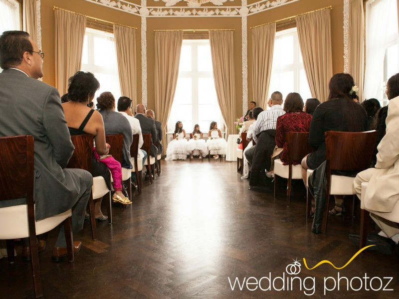 All guests awaiting the beatiful bride at the civil ceremony