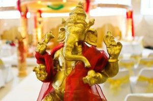 Lord Ghanesh at a Hindu wedding ceremony